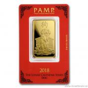 Investiční zlatá cihla PAMP Rok psa 2018