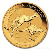 Investiční zlatá mince australský klokan-nugget -2018