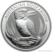 Investiční stříbrná mince Kookaburra 2012