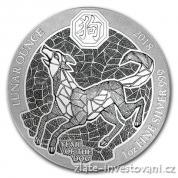 Stříbrná mince rok psa 2018-Rwanda