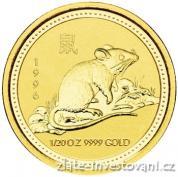 Investiční zlatá mince rok myši  1996