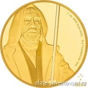 Investiční zlatá  mince Obi Wan Kenobi -Star Wars 2016 proof
