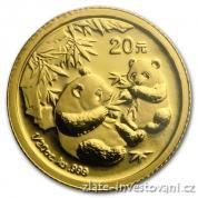 Investiční zlatá mince čínská Panda 2006