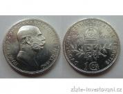 Stříbrná pamětní koruna 60.let panování Františka Josefa I. 1908