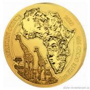 Investiční zlatá mince rok Žirafa 2018-Rwanda