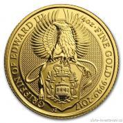 Investiční zlatá mince Griffin královny Anglie-2017