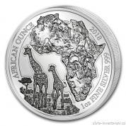 Investiční stříbrná mince rok Žirafa 2018-Rwanda