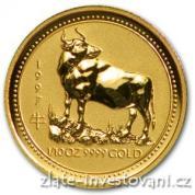 Investiční zlatá mince rok Býka 1997
