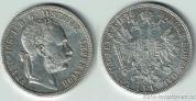 Stříbrný 1 zlatník Františka Josefa I. 1878