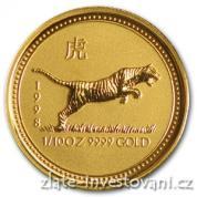 Investiční zlatá mince rok Tygra  1998