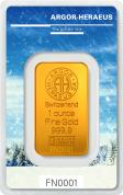 Investiční zlatá cihla Argor Heraeus-Zima - limitovaná edice Švýcarsko