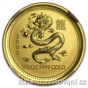 Investiční zlatá mince rok draka 2000-lunární série 1