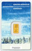 Investiční zlatá cihla Argor Heraeus-Zima 2017 limitovaná edice Švýcarsko