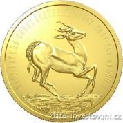 Zlatá mince Antilopa -Springbok-2017