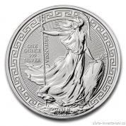 Investiční stříbrná mince Britannia - 2018 -orientální motiv