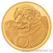Zlatá mince Bernardýn Barry 2017-Švýcarsko proof