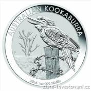 Investiční stříbrná mince Kookaburra 2016