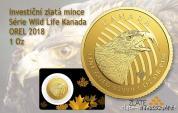 Investiční zlatá mince Orel 2018-série Wild life Kanada
