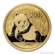 Investiční zlatá mince čínská Panda 2015