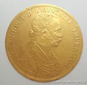 Zlatá mince čtyřdukát Františka Josefa I. 1911