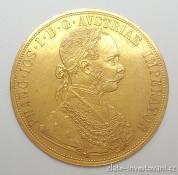 Zlatá mince čtyřdukát Františka Josefa I. 1912
