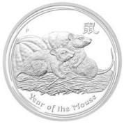 Investiční stříbrná mince rok myši  2008