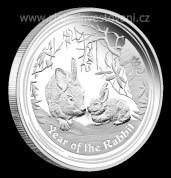 Investiční stříbrná mince rok Králíka 2011