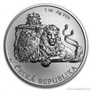 Investiční stříbrná mince Český lev 2018
