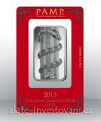 Investiční stříbrná cihla PAMP Rok hada 2013