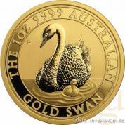Zlatá investiční mince australská Labuť-Perth Mint 2018