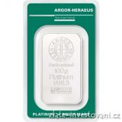 Investiční platinová cihla Argor Heraeus