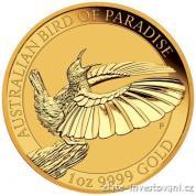 Zlatá investiční mince Bird of Paradise-Austrálie 2018