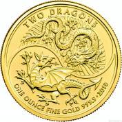 Investiční zlatá mince Dva draci 2018-Velká Británie