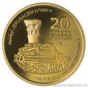 Zlatá mince série Zlatý Jeruzalém- The Cardo  2018