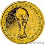 Zlatá mince FIFA World Cup Trophy-MS ve fotbale 2018 proof