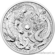 Investiční stříbrná mince Drak a tygr 2018