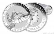 Stříbrná investiční mince Bird od Paradise 2018-Rajka