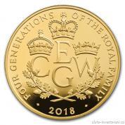Zlatá mince Čtyři generace královské rodiny-2018-proof