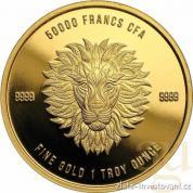 Zlatá mince Lev 2018-Čad