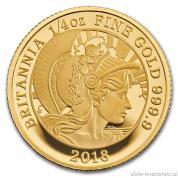 Zlatá mince Britannia-proof -2018