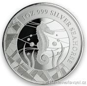 Stříbrná investiční mince mořský koník 2018-Samoa
