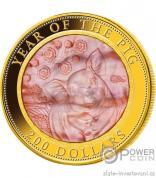 Zlatá mince  rok Vepře proof 2019-Cook Islands