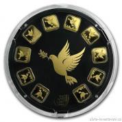 Investiční zlatá cihla Holubice-Holy Land Mint -slunečnice
