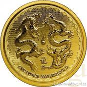 Investiční zlatá mince Dva draci 2018-Nový Zéland