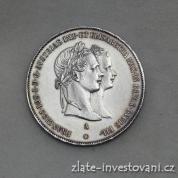 Stříbrný zásnubní  zlatník Františka Josefa I. 1854