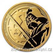Investiční zlatá  mince Darth Vader-Star Wars 2018