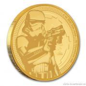 Investiční zlatá  mince Stormtrooper-Star Wars 2018