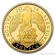 Zlatá mince Sokol  královny Anglie 2019-heraldická série