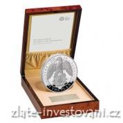 Stříbrná mince Queen´s beasts-Sokol královny Anglie   2019 Silver Proof 1 kg