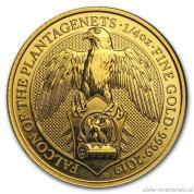 Investiční zlatá mince Sokol  královny Anglie 2019-heraldická série